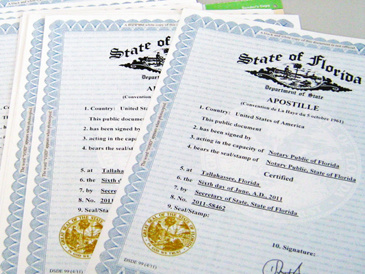 Apostille Services Miami and West Palm Beach